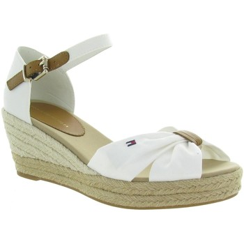 Chaussures Femme Sandales et Nu-pieds Tommy Hilfiger TOE MID WEDGE Blanc