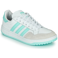 Chaussures Baskets basses adidas Originals TEAM COURT W Blanc / Turquoise