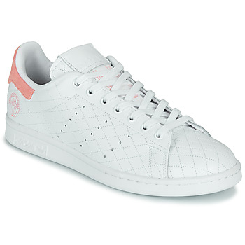 Chaussures Baskets basses adidas Originals STAN SMITH W Blanc / Rose