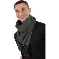 Accessoires textile Echarpes / Etoles / Foulards Fantazia Cheche foulard coton epais noir kaki psychedelic Noir