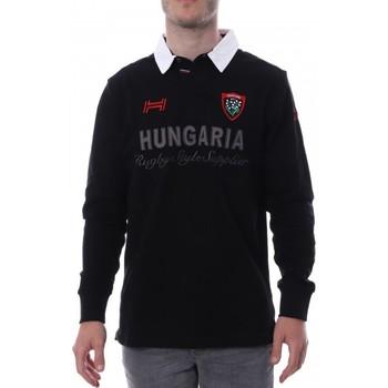 Vêtements Homme Polos manches longues Hungaria H-16TLMOLORET Noir