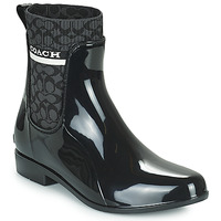 Chaussures Femme Bottes de pluie Coach RIVINGTON RAIN BOOTIE Noir