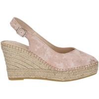 Chaussures Femme Espadrilles Ramoncinas CHOCOLAT POINTE ESPADRILLES STONY TESHUB ROSE