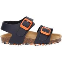 Chaussures Garçon Sandales et Nu-pieds Garvalin SANDALE  BIO TYRION BLEU MARINE