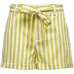 Vêtements Femme Shorts / Bermudas Only ONLAPRIL EVETTE STRIPE SHORTS jaune