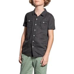 Vêtements Garçon Chemises manches courtes Deeluxe Chemise BOBBY Grey