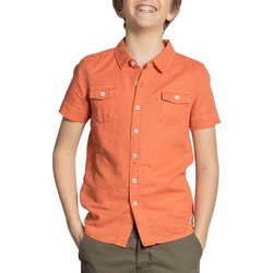 Vêtements Garçon Chemises manches courtes Deeluxe Chemise BOBBY Light Terra