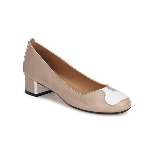 robert clergerie lecce beige blanc livraison gratuite avec chaussures. Black Bedroom Furniture Sets. Home Design Ideas