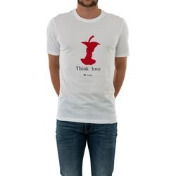 Vêtements Homme T-shirts manches courtes Kulte love blanc