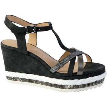 Chaussures Femme Sandales et Nu-pieds The Divine Factory Sandales Compensee Noir