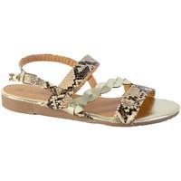 Chaussures Femme Sandales et Nu-pieds The Divine Factory Sandales JL3956 Beige