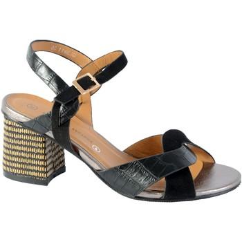 Chaussures Femme Sandales et Nu-pieds The Divine Factory Sandales Talon Noir