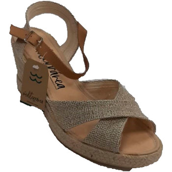 Chaussures Femme Sandales et Nu-pieds Calzamur Sandales compensées hautes pour femmes à oro