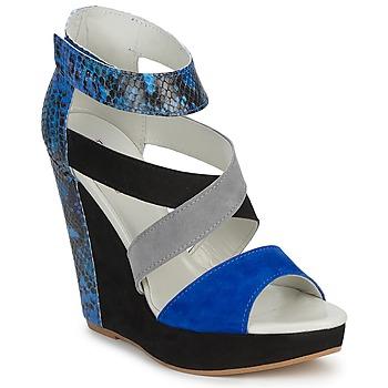 Chaussures Femme Sandales et Nu-pieds Serafini CARRY Noir / Bleu / Gris