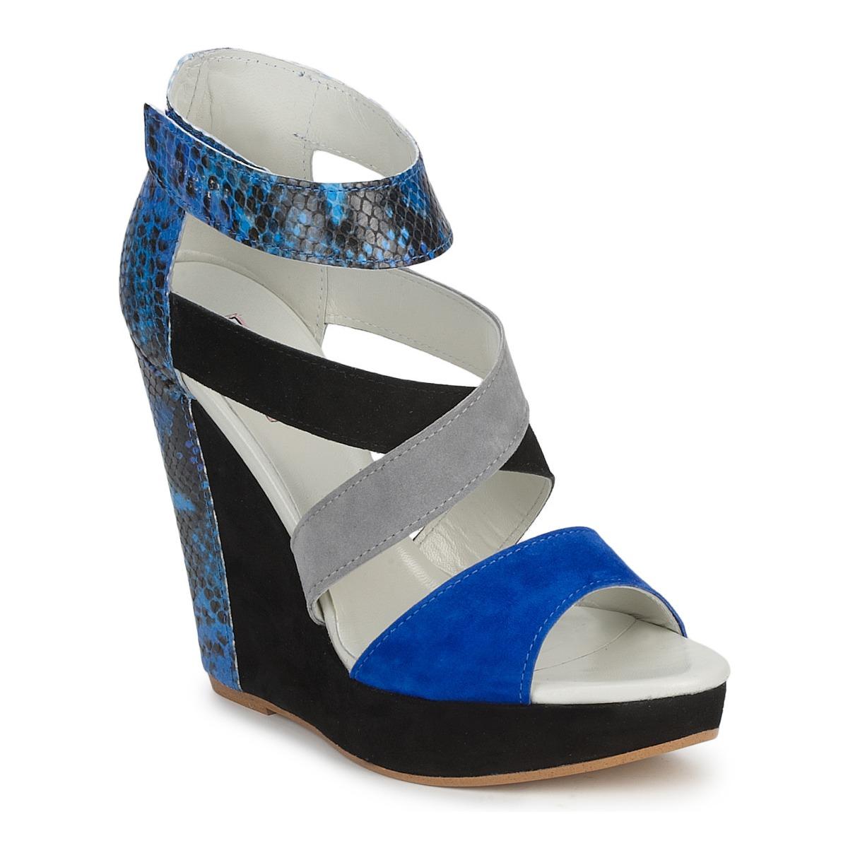 Sandale Serafini CARRY Noir / Bleu / Gris