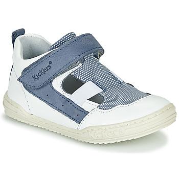 Chaussures Garçon Sandales et Nu-pieds Kickers JASON Blanc / Bleu