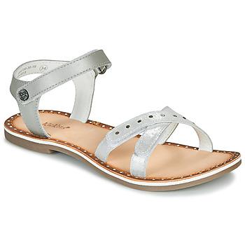 Chaussures Fille Sandales et Nu-pieds Kickers DIDONC Argenté