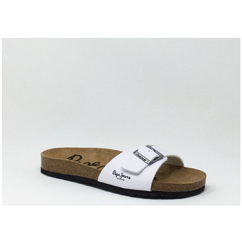 Chaussures Femme Mules Pepe jeans PEPE JEANS CLAQUETTE STRAP BLANC Blanc