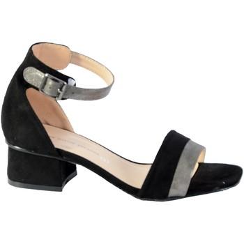 Chaussures Femme Sandales et Nu-pieds The Divine Factory Sandales Noir/Etain