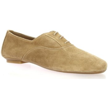 Chaussures Femme Derbies Reqin's Derby cuir velours  naturel Naturel