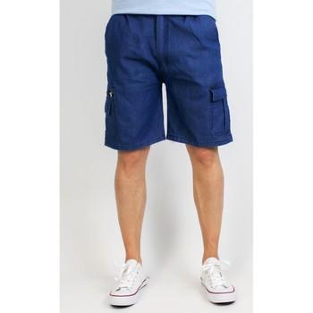 Vêtements Homme Shorts / Bermudas Kebello Bermuda en jeans Taille : H Bleu M Bleu