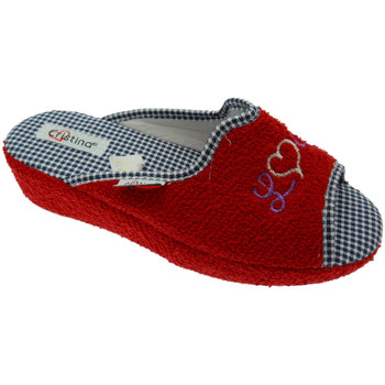 Chaussures Femme Chaussons Cristina CRIS24ros rosso