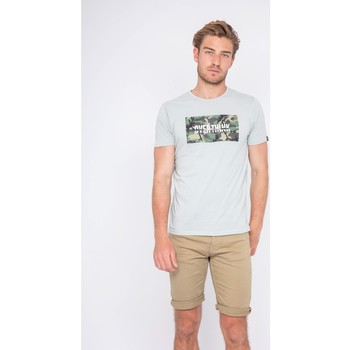 Vêtements Homme T-shirts manches courtes Ritchie T-shirt col rond pur coton NAWAK Gris