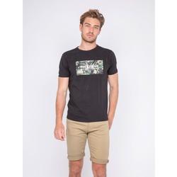 Vêtements Homme T-shirts manches courtes Ritchie T-shirt col rond pur coton NAWAK Noir