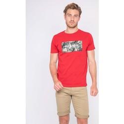 Vêtements Homme T-shirts manches courtes Ritchie T-shirt col rond pur coton NAWAK Rouge