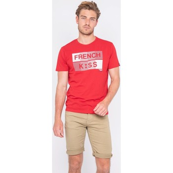 Vêtements Homme T-shirts manches courtes Ritchie T-shirt col rond pur coton NEBULO Rouge