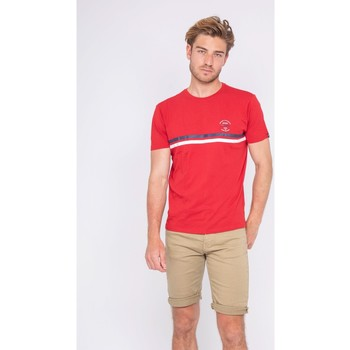 Vêtements Homme T-shirts manches courtes Ritchie T-shirt col rond pur coton NIAGARA Rouge