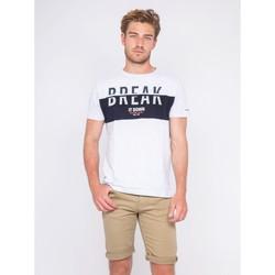 Vêtements Homme T-shirts manches courtes Ritchie T-shirt col rond pur coton motis relief NOLIBERT Gris