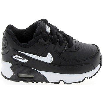 Chaussures Fille Baskets basses Nike Air Max 90 BB Noir Blanc CD6868-010 Noir