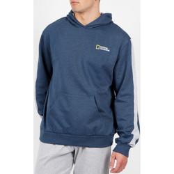 Vêtements Homme Sweats Admas For Men Sweat à capuche National Geographic bleu Admas Bleu