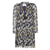 Vêtements Femme Robes courtes Moony Mood LONI Marine / Multicolore