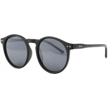Montres & Bijoux Lunettes de soleil Eye Wear Lunettes de soleil Rondes Noir Mat Retro Classe Fegy Noir