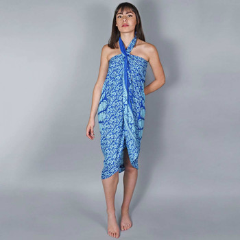 Vêtements Femme Paréos Baisers Salés Paréo Batik Mandala Bleu