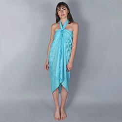 Vêtements Femme Paréos Baisers Salés Paréo Batik Mandala Turquoise