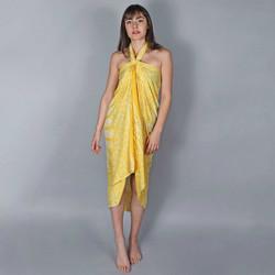 Vêtements Femme Paréos Baisers Salés Paréo Batik Mandala Jaune