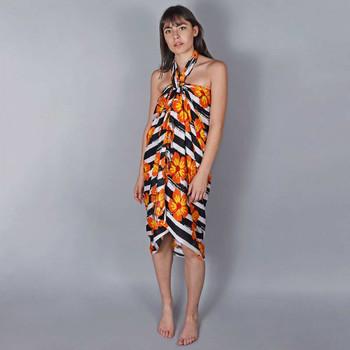 Vêtements Femme Paréos Baisers Salés Paréo Batik Exotica Orange