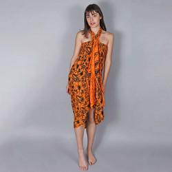 Vêtements Femme Paréos Baisers Salés Paréo Batik Lotus Orange