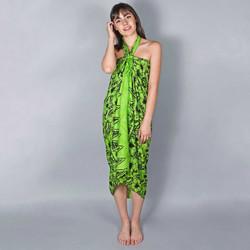 Vêtements Femme Paréos Baisers Salés Paréo Batik Lotus Vert