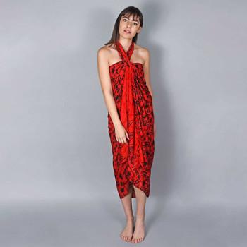 Vêtements Femme Paréos Baisers Salés Paréo Batik Lotus Rouge