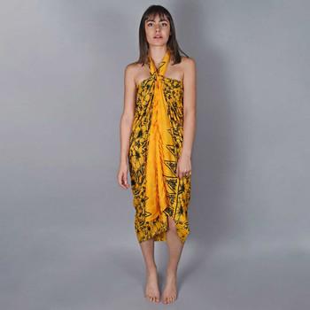 Vêtements Femme Paréos Baisers Salés Paréo Batik Lotus Jaune
