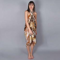 Vêtements Femme Paréos Baisers Salés Paréo Batik Savana Marron
