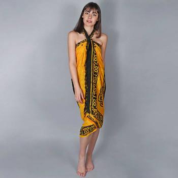 Vêtements Femme Paréos Baisers Salés Paréo Batik Bali Jaune