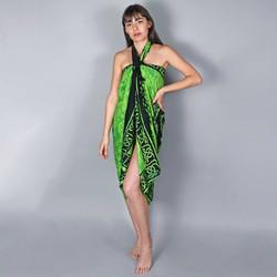 Vêtements Femme Paréos Baisers Salés Paréo Batik Bali Vert