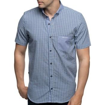 Vêtements Homme Chemises manches courtes Shilton Chemise manches courtes poche brodée Bleu indigo