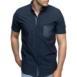 Vêtements Homme Chemises manches courtes Shilton Chemise manches courtes poche brodée Bleu marine