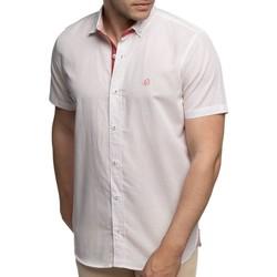 Vêtements Homme Chemises manches courtes Shilton Chemise manches courtes à pois RUGBY Rouge